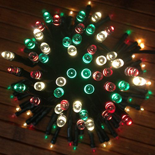 devida solar string lights in red green and white cinco d - Red Green White Christmas Lights