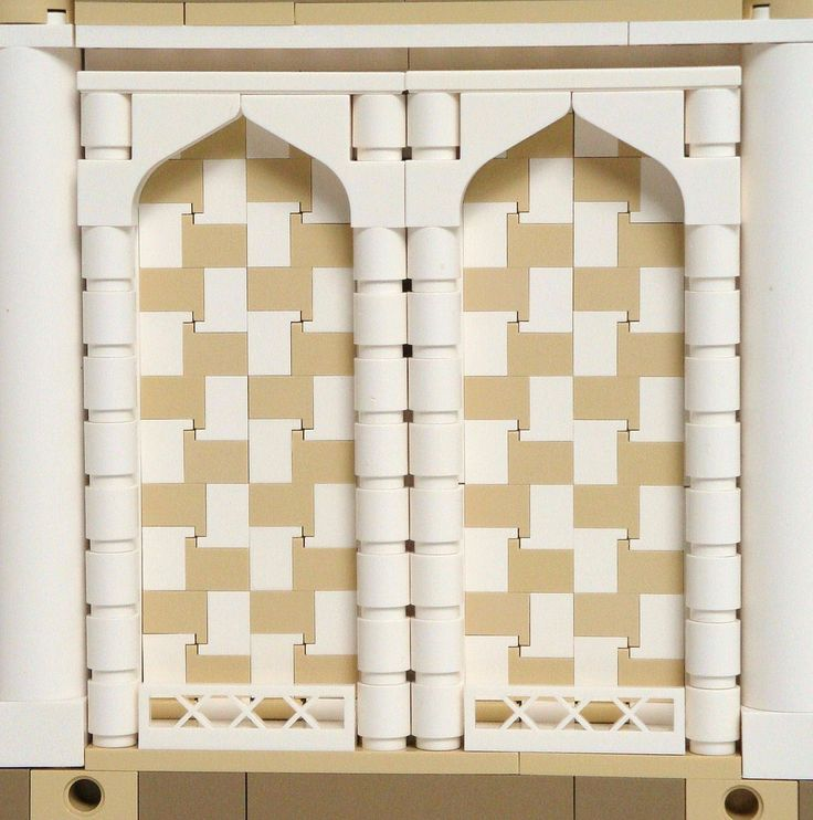 LEGO Prince of Persia MOC - Alamut Gate - side view mosaic detail