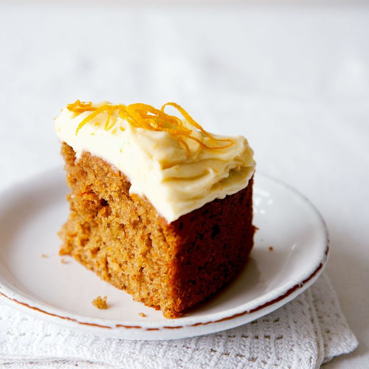 Carrot Cake with Orange Cream Cheese Frosting | Recipe