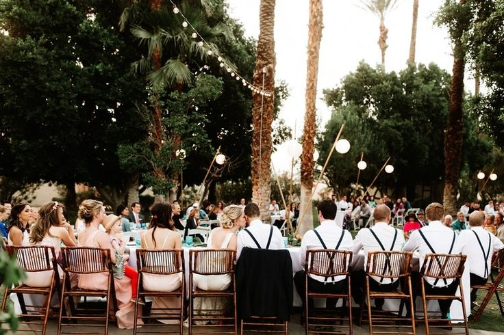 A Tropical Backyard Palm Springs Party