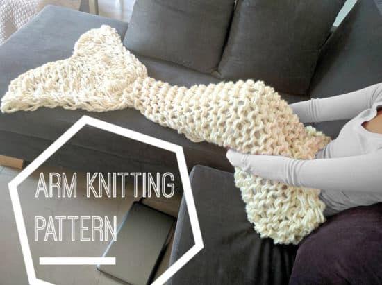 Arm Knit Mermaid Blanket Pattern