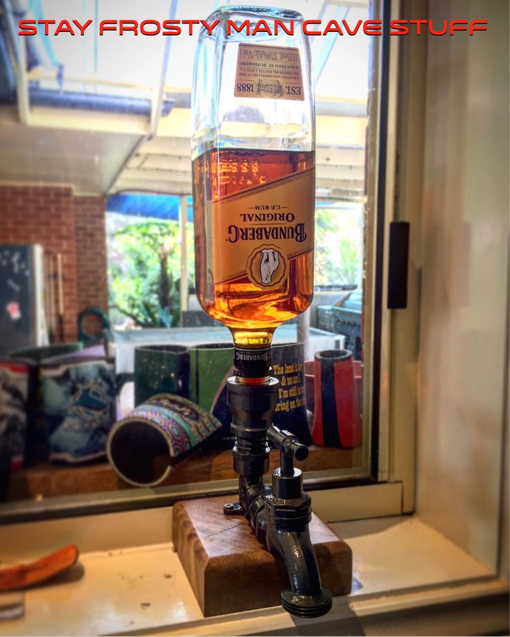Hand Crafted Spirit Tap Dispenser #bundyontap #ontap #bundy #bundyrum #rum #bundabergrum #stayfrostymancavestuff #Wagga #waggawagga #mancave #upcycle #makeit #homemade #handmade #manshed #bar #homebar #pollishedtimber #diy #shutupandtakemymoney