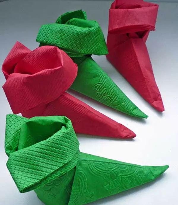17 mejores ideas sobre doblar servilletas de papel en - Origami con servilletas ...