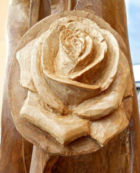 A wood rose carving ice pinterest woods and