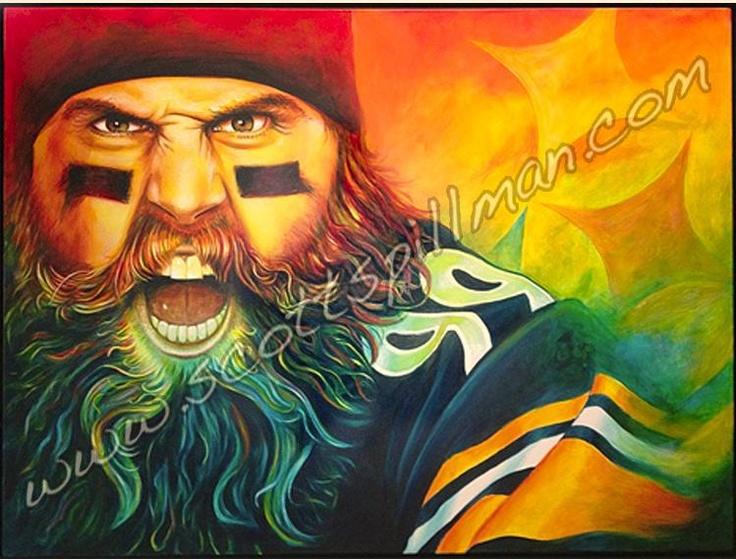 "Brett Keisel ""Da Beard"" #99   Pittsburgh Steelers"