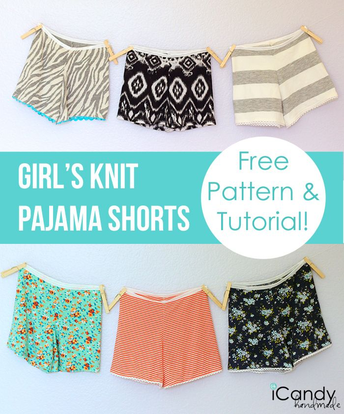 Knit Pajama Shorts Pattern