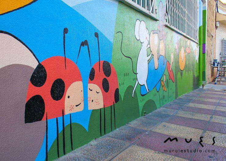 41 mejores im genes sobre murales para colegios y - Pintar mural en pared ...