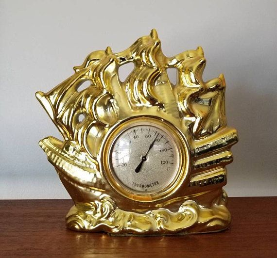 Nautical decor. This would look great in a mancave or library. Hey, I found this really awesome Etsy listing at https://www.etsy.com/ca/listing/546018570/vintage-thermometer-made-in-japan