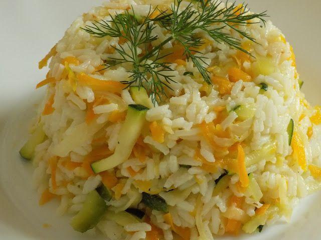 magiczna kuchnia Kasi: Ryż z cukinią i marchewką