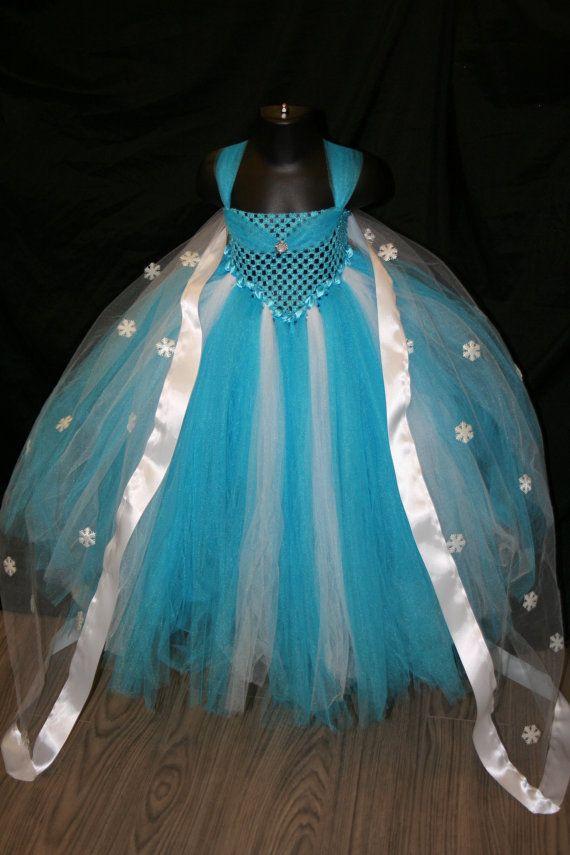 Frozen Inspired Tutu Dress Frozen Tutu by LittleMissTrendyTutu, starting at $58.00