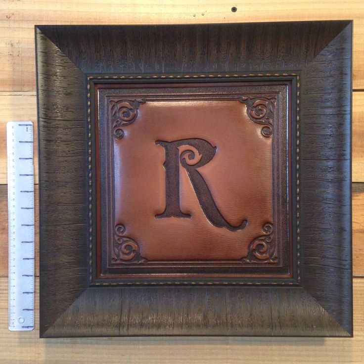 Pressed Leather Letter R by CallahanLeatherpress on Etsy https://www.etsy.