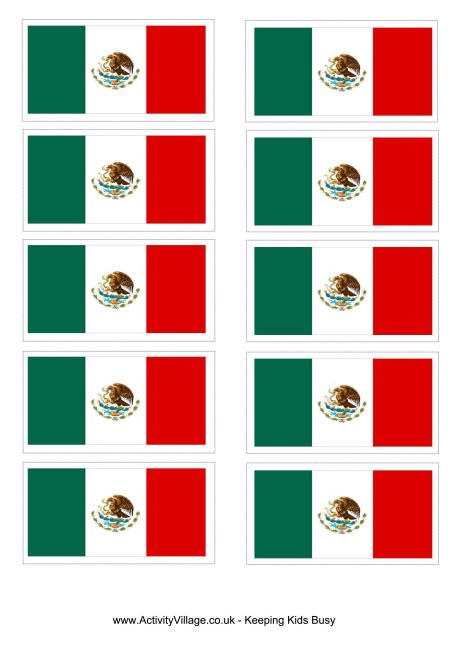 Versatile image in printable mexican flag