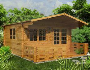 Casetta in legno da giardino modello Venta 4x4, spessore pareti 44mm.