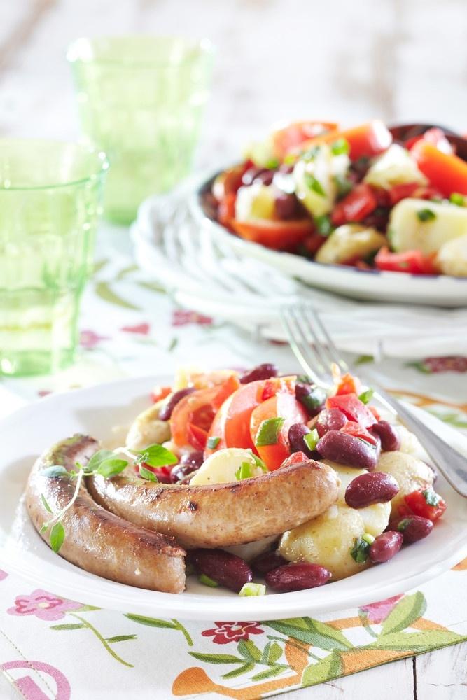 Kreikkalainen peruna-papusalaatti | K-ruoka