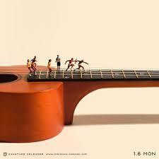 Con solo una guitarra y varios monitos... Genial no??