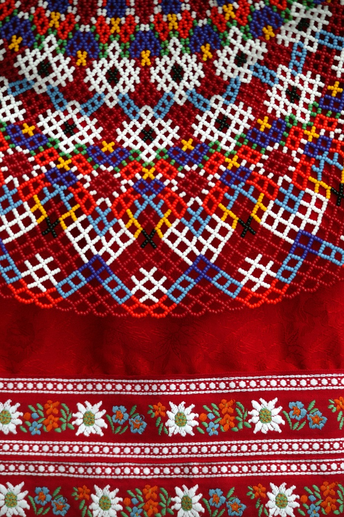 Greenlandic bead collar - part of the national costume - by ilovegreenland