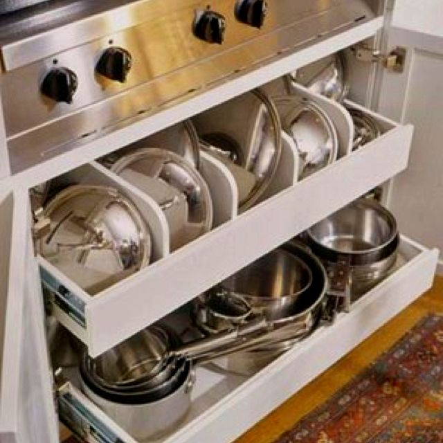 Kitchen Organization Ideas For Pots And Pans: 17 Best Ideas About Pan Storage On Pinterest