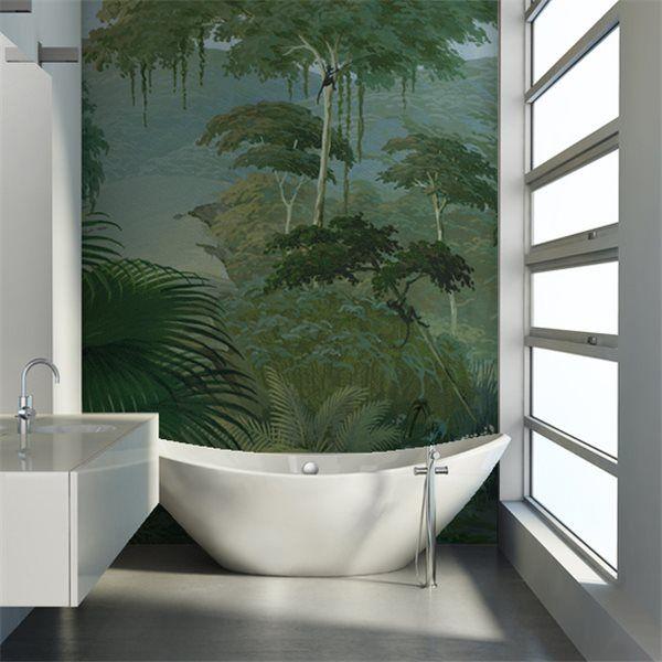 fougères arborescentes dans la salle de bain