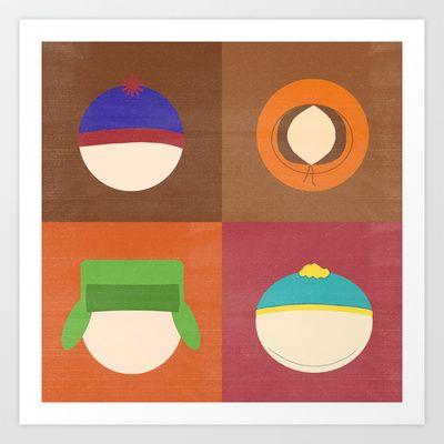South Park Art Print by Raquel Segal - $15.60