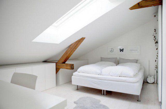 aménagement de combles -chambre-coucher-blanche