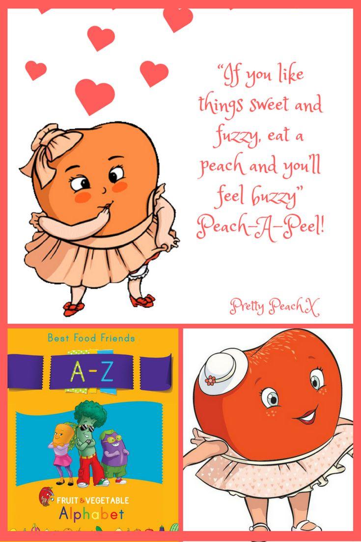 Pretty Peach www.bestfoodfriends.com #bestfoodfriends #healthyeating #kids #parenting #food #funfood #eatyourfruitandvegetables