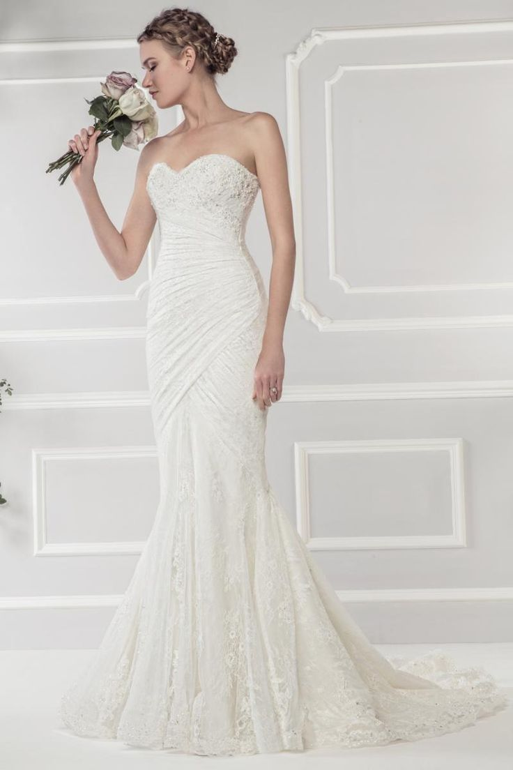 Destination Wedding Dresses Mermaid Sweetheart Neckline Ruched Pleats Lace Top Appliques Sequins Lace Fabrics Wedding Gowns China