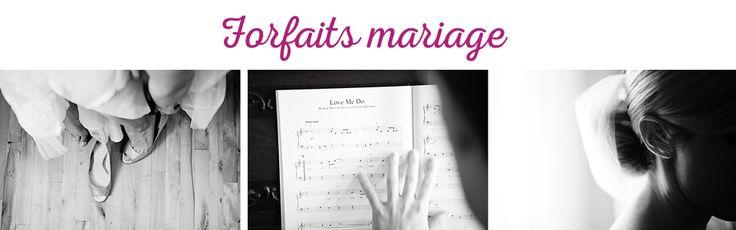 forfaits mariage photographie