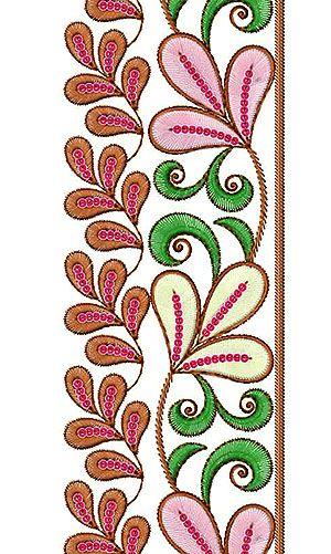 Lace Border Brocade Embroidery Design