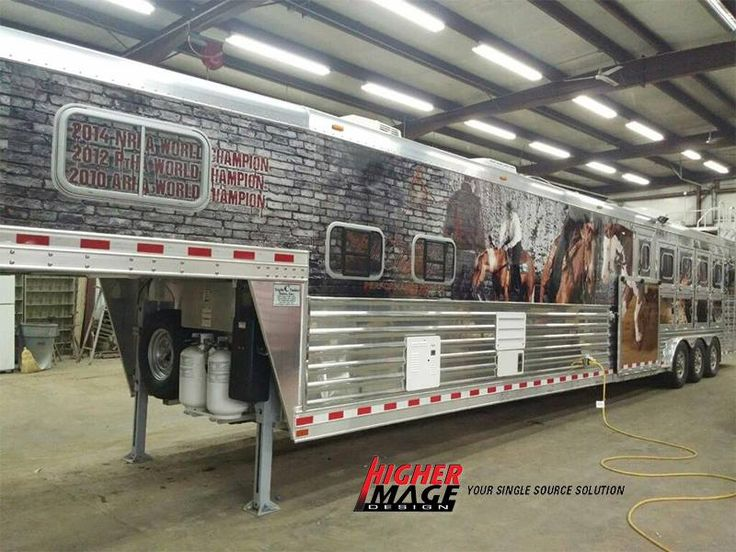 Look What A Custom Printed Wrap Does For This Horse Trailer - Decals for trucks customizedhorse decals horse stickersgraphics for horse trailers