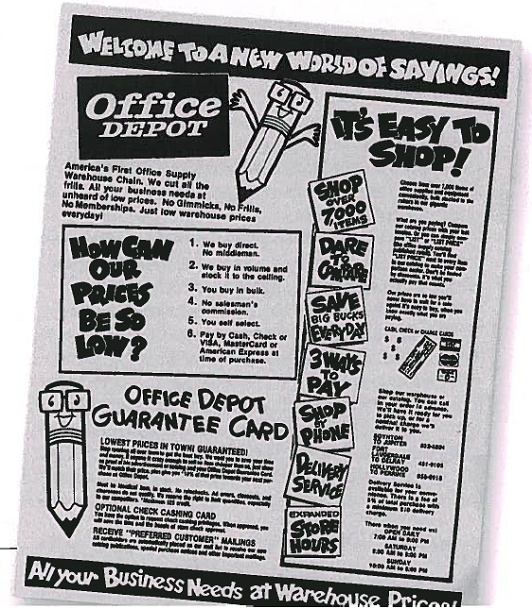 In This Old Office Depot Ad, Youu0027ll See Our Former Mascot, Stubby