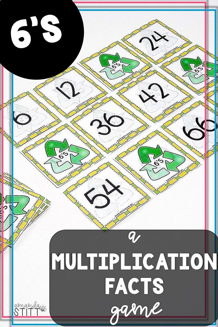 Skip Counting Game Multiplication Facts Game 6s