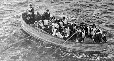 Survivors in lifeboats. Google image