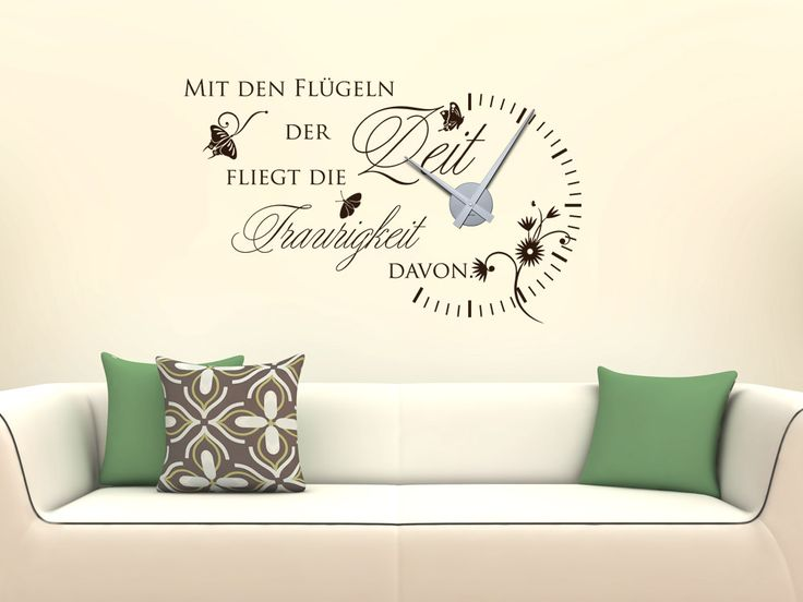 31 best Wanduhren images on Pinterest Clocks, Decoration and House - wandtattoo küche kaffee