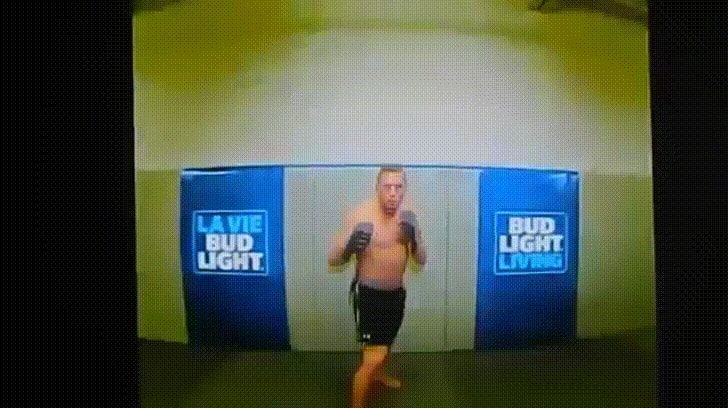 Click to see GIF First person view of what it is like to get Crane Kicked and knocked out by George St-Pierre. on Funny Goblin, the best creative humor community to search and share your favorite funny pictures, memes, gifs, jokes, humour pics, videos on internet.