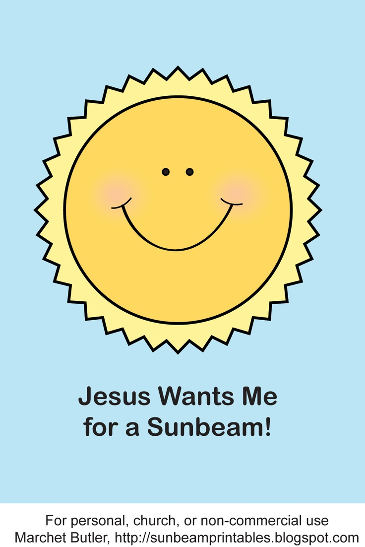 "Great site with printables for every Sunbeam lesson.  ""Jesus Wants Me for a Sunbeam"" Puppets"