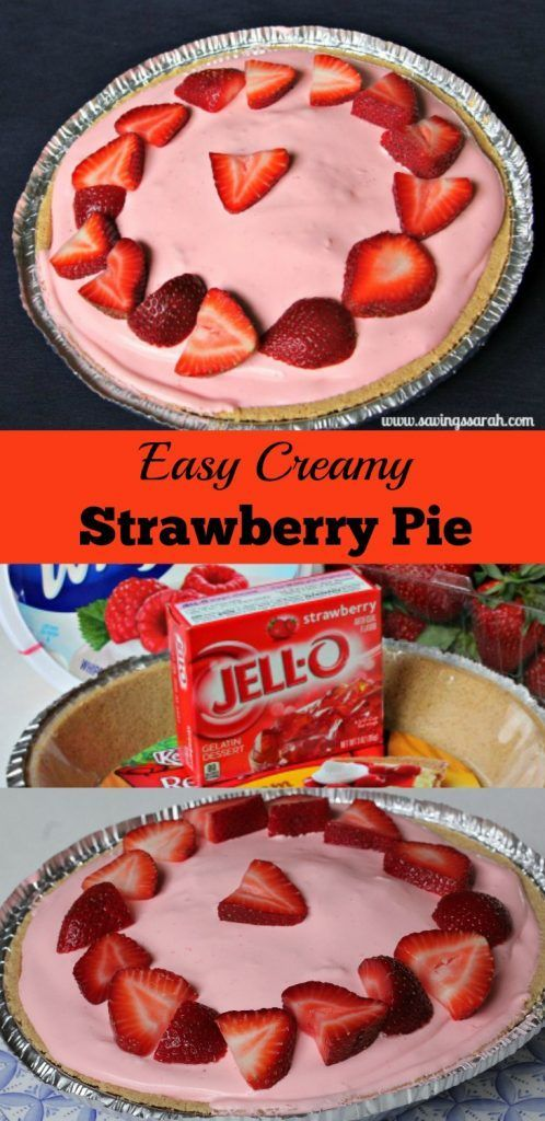 A luscious strawberry pie that melts in your mouth. Definitely a tasty and inexpensive crowd pleaser that is a breeze to make.