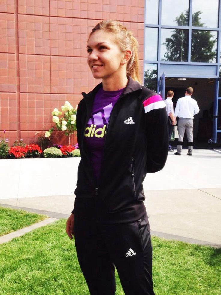 Simona Halep at the USOpen 2014 and opening Arthur Ashe court tomorrow at Day 1 #WTA #Halep #USOpen
