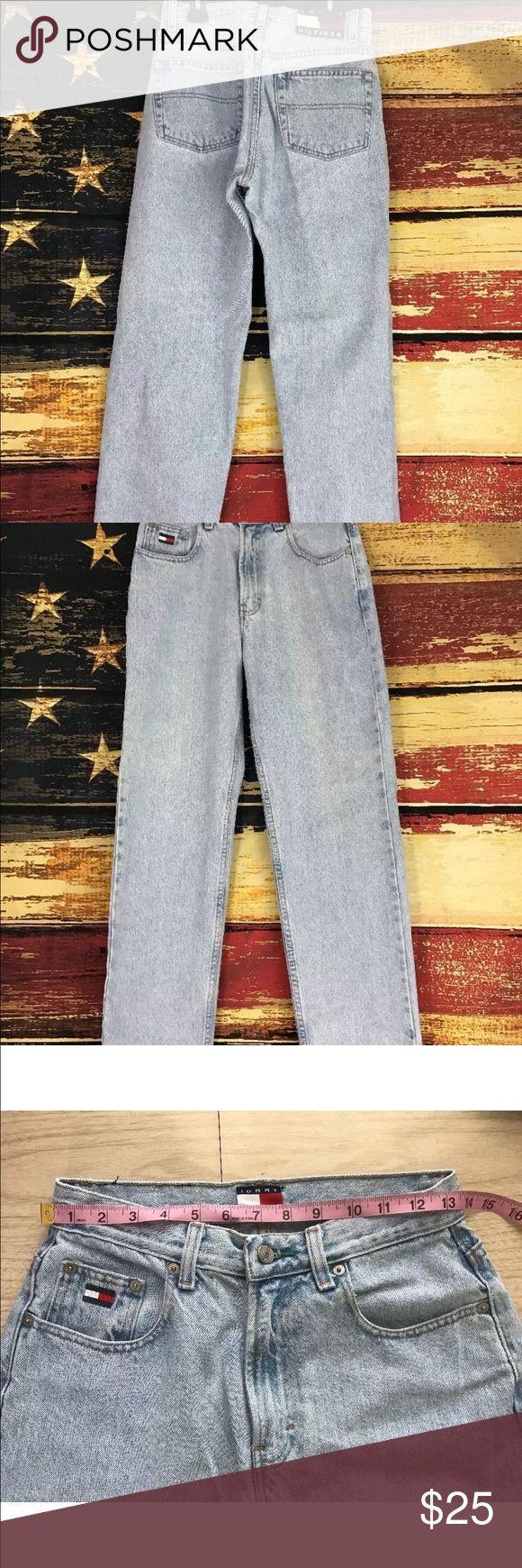 Vintage 90's Women's size 8 Tommy Hilfiger jeans Women's Tommy Hilfiger jeans size 8. 26 x 27 1/2. Tommy Hilfiger Jeans Straight Leg
