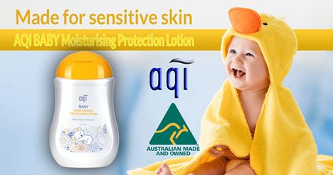 AQI BABY Moisturising Protection Lotion ~ Natural Oatmeal, Plant Extracts, Vitamins Essential Oils http://www.aqicare.com/buy/aqi-baby-moisturising-protection-lotion/0043 Get it from our online store at www.aqicare.com today.  #naturalskincare #skincareproducts #Australianskincare #AqiskinCare #australianmade