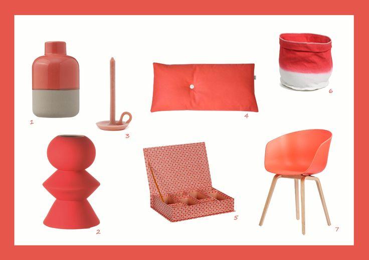 Huis vol koraal - Interieur koraalkleur - shoptips koraal http://www.stijlhabitat.nl/een-huis-vol-koraal/