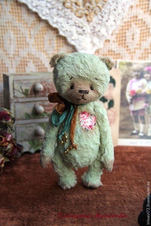 Купить Макар - мятный, мишка, мишка тедди, игрушка, подарок, подарок девушке, подарок женщине