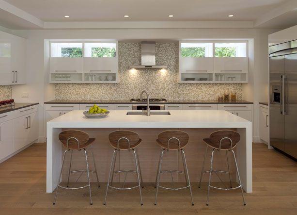 modern white kitchen | charlie & co. design #kitchen #white kitchen #modern kitchen