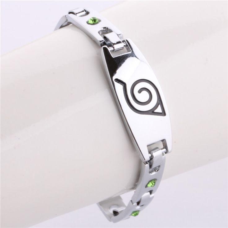 """Bracelet """"NARUTO Shippuden Konoha """" Métal en Alliage de Zinc.Bracelet léger Unisexe """"Mode Enfant/Ado"""".Neuf sous Blister.   Taille du Bracelet: 19cm  Type de Fermoir: Toggle  Poids du Bracelet:12 G"""