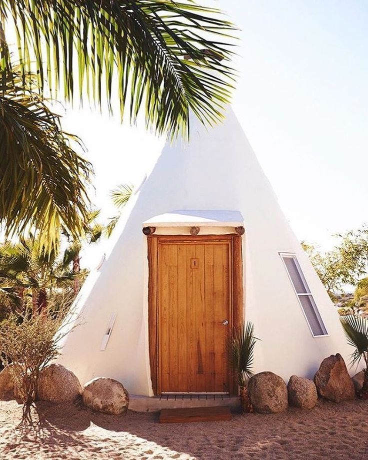 "This deluxe teepee at Pachamama—a yoga retreat and boutique hotel located just outside the small village of Todos Santos, Mexico—pretty much epitomizes what we'd call ""glamping goals."" Click the link in our bio for 28 of the coolest glamping sites around the world. Photo by @jillianguyette #traveldeeper"