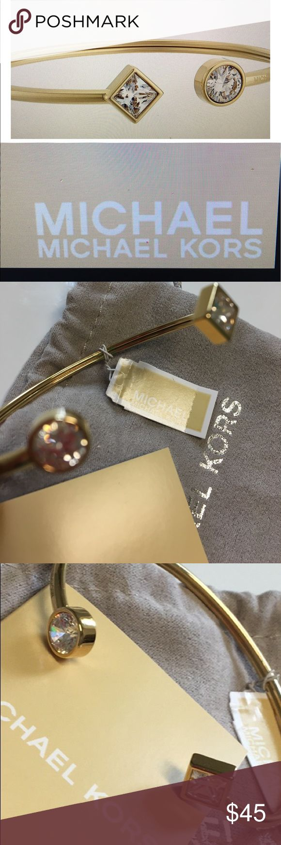 NWT MICHAEL KORS PARK AVENUE BRACELET Beautiful Michael Kors open cuff bracelet last seen at Neiman Marcus for $95 Michael Kors Jewelry Bracelets
