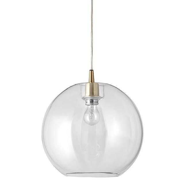 Belid gloria glass brass pendant light clear silver