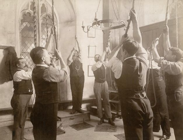 Church bell ringers at Henley-on-Thames (Found in Sambourne's Image Library)