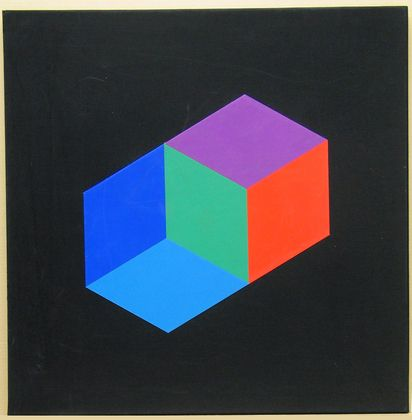 all rigths reserved!    1969. Carteira de oito screeenprints. Dom da Galerie Denise René. © 2012 Artists Rights Society (ARS), New York / ADAGP, Paris    Victor Vasarely  Hommage à Hexagon (Hommage à La Hexagone)  Victor Vasarely (francês, 1908-1997)