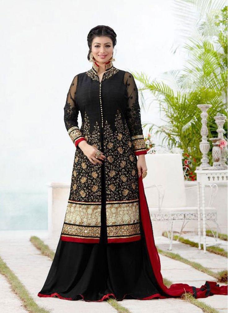 Ayesha Takia Black Palazzo Designer Salwar Suit