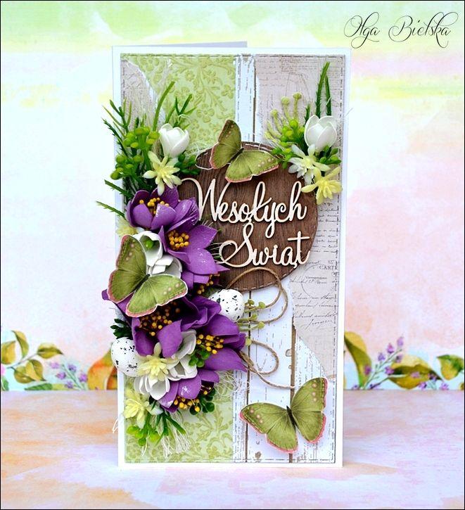 Kartka scrapbooking wielkanocna. / Card Easter.